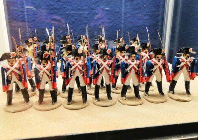 """Sala """"Martín Nicolás"""". Soldados españoles, guardias suizas 1808"""
